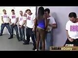 Naughty black wife gang banged by white friends 3
