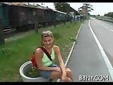 Hawt and wild outdoor blowjob part 3