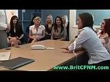 British CFNM girls humiliate man before group