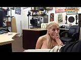 Blonde stripper pounded at the pawnshop