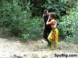 Couple Having Sex Outside In The Woods