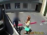 Blowjob from a ginger in my towtruck 00027