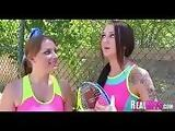 College girls tennis match turns to orgy 043