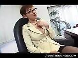 Japanese nymph caught masturbating pussy gets fucked at work