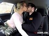 Cute Babe Sasha Steele Sucks Driving Examiners Cock