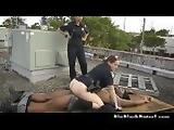 White Female Cops Riding On Big Black Dick Outdoors