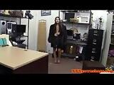 Pussyfucked pawnshop amateur shakes her hips