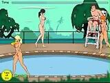 Tentacle monster molests women at pool part 2
