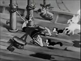 olive oyl tied up barefoot