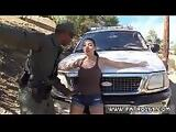 Police pornstar first time Latina Babe Fucked By the Law