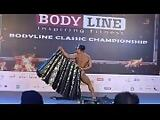 Indian female bodybuilder strip dance Europa Bhowmik